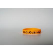 Silikonový náramek oranžový - velký
