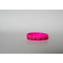 Silikonový náramek růžový - malý