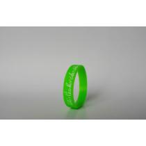 Silikonový náramek světle zelený - malý