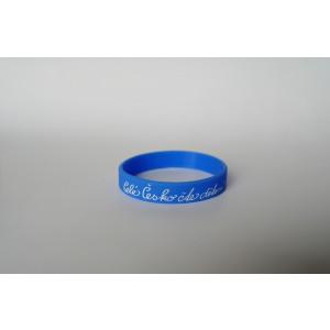 Silikonový náramek světle modrý - malý