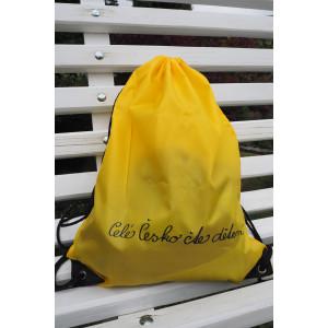 Batůžek se zdrhovací šňůrkou žlutý
