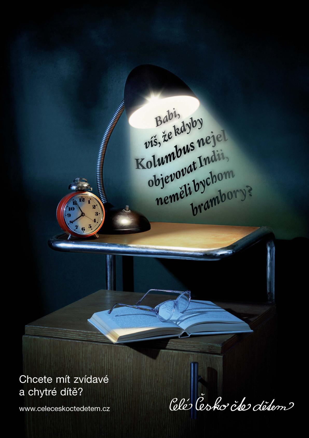 Plakát Lampička s Kolumbem A4