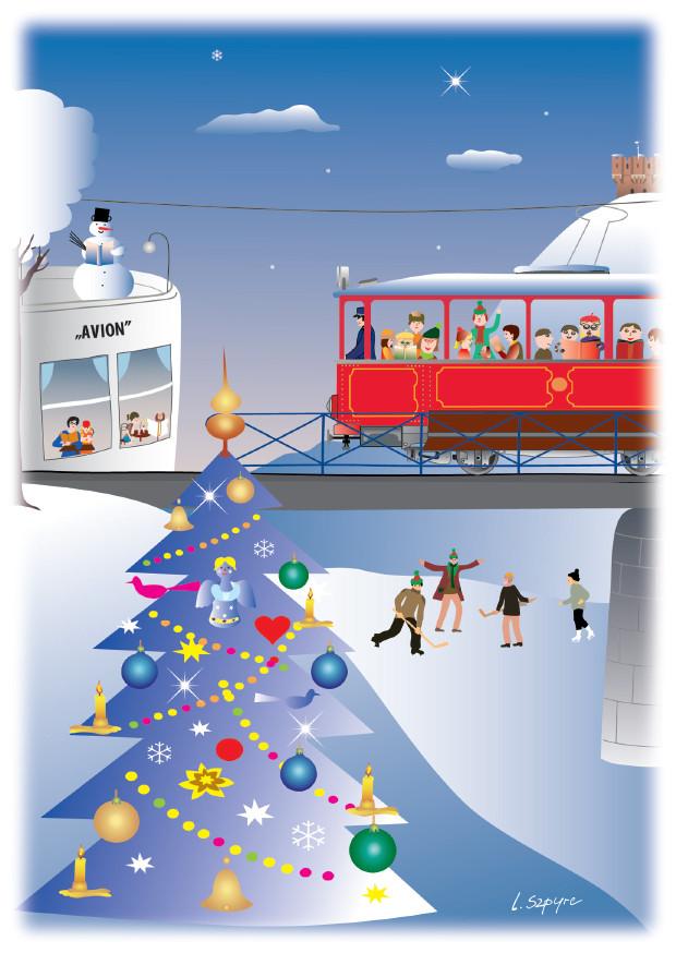 Vánoční pohlednice - Český Těšín