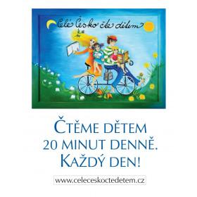 Plakát Čtěme dětem A3