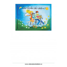 Plakát Celé Česko čte dětem s volným místem A4