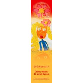 Záložka - Dívka s květinou