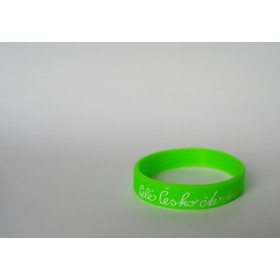 Silikonový náramek světle zelený - velký