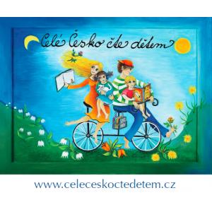 Nálepka s logem Celé Česko čte dětem - velká