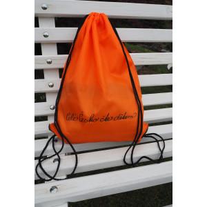 Batůžek se zdrhovací šňůrkou oranžový