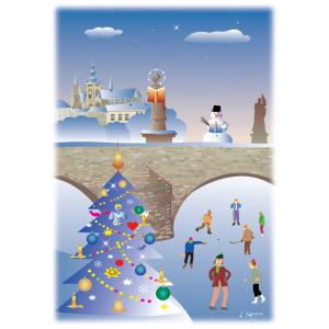 Vánoční pohlednice - Praha